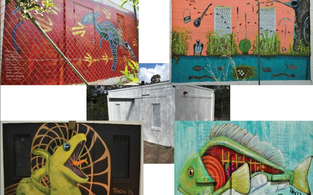 Transforming a pump station with Aboriginal-inspired art