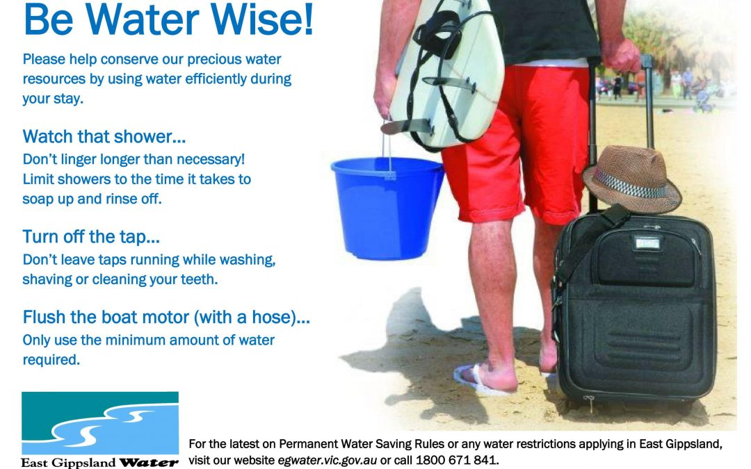 Seeking tourism community assistance to promote water efficiency