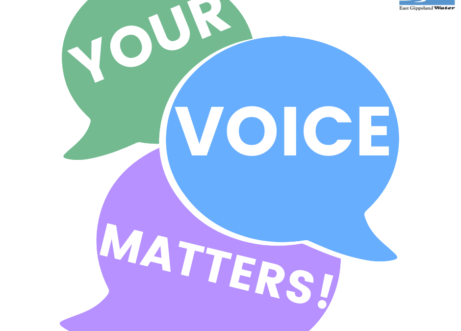 We need your feedback on water and sewerage service